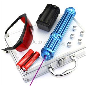 Shadowlasers Blu scuro VX3-II ad alta potenza 405nm puntatore laser viola blu viola torcia laser Lazer torcia elettrica caccia 2 * batterie 18650 Li