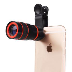 8x زووم بصري تلسكوب للهاتف المحمول الهاتف المحمول تليفوتوغرافي عدسة الكاميرا ومقطع ل iPhone سامسونج HTC HTC هواوي LG سوني إلخ