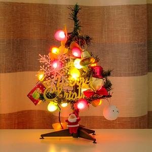 Новогодние елки праздничная вечеринка поставки Арбол де Навидад Альберо Натале kerstboom 30 см зажгли мини рождественская елка украшения продажа