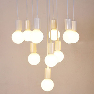E27 linha de lâmpada Luzes Pingente DIY acessórios de iluminação com preto branco lâmpada Suporte Da Lâmpada Soquete Base de Luz de Montagem de Montagem AL131