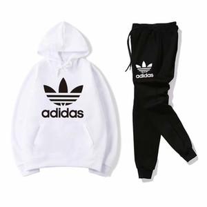 Marke Männer und Frauen mit Kapuze und Hose Trainingsanzüge langärmelige Herren Sportswear Mode Freizeitanzug Frühling und Herbst AD369