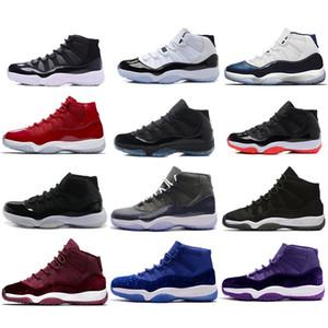 2018 alta qualità air jordan 11 spazio marmellata allevati scarpe da basket uomo scarpe da donna 11 palestra rosso blu navy gamma blu 72-10 sconto economici scarpe da ginnastica