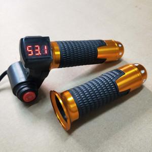 24 V / 36 V / 48 V / 60 V Ebike Büküm Kavrama Gaz 3 hız anahtarı LED Gerilim Ekran ve 3 Hız Anahtarı ile