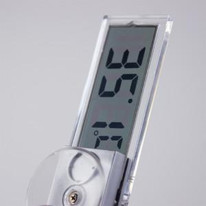 Enayi Tipi LCD Araba Dijital Pencere Termometre Pencere Santigrat Fahrenheit Üzerinde Yüksek Kalite Araba Dijital Saat İç Dış termometre