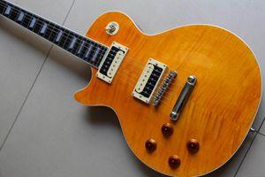 Custom Electric Guitar Slash One Piece Neck Body Mahogany Left Handed In Yellow 120925