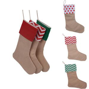 30 * 45 Yüksek Kalite Tuval Noel Çorap Hediye Çanta Tuval Noel Süsleri Noel Büyük Ova çuval bezi Dekoratif WX9-132 çorap