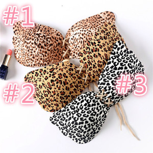 Leopard Invisible Bra Silicone Sexy Women Strapless Push Up Bra Angel Wing Shape Self-Adhesive Bust Backless Bra 3 styles in stock