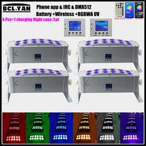 Buon prezzo Led Wash Light 12x18W RGBWA Wireless UV batteria dmx Led Wall Washer Bar DJ DMX Stage Light con telecomando WIFI Telefono