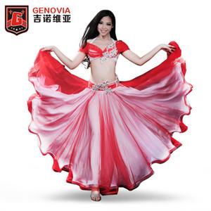 2018 Performance  Belly Dancing Egyptian Costumes Oriental Style Rhinestone Bra, Belt ,skirt Belly Dance