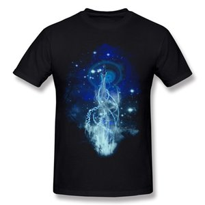 Popular Adult Pure cotton dancing with fireflies Tee Shirts Adult O-Neck Grey Short Sleeve Tee Shirt S-6XL Casual Tee Shirts