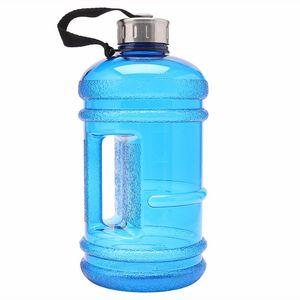 2.2L Grande Capacité Verres BPA Libre Gym Gym Formation Bouteille D'eau Seau Tasses Cap Kettle Workout Camp Extérieur