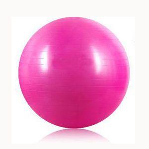 Super sell Sport Pilates Yoga Fitness Ball Exercise Balls Peanut Exercises  Gymnastic Pad 55cm pink