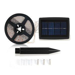Edison2011 5M LED Flexible Solar-Streifen-Lichter SMD2835 100Leds wasserdicht IP65 2 Modi Auto EIN / AUS-Lichtleisten für Indoor Outdoor