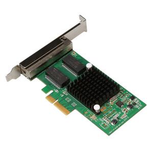 Placa PCI-E x4 Servidor 4 Portas RJ45 Gigabit Ethernet Adaptador de Rede 1000Mbps Placa de Rede i350-T4