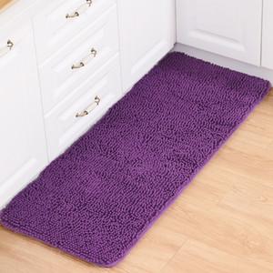 Chenille carpet High quality Bathroom carpet kitchen room rugs Antislip floor mat living room anitskid solid floor cover mat