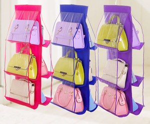6 Bags Shoe Organizer Backpack Be Pocket Storage Handbag Family High Bag Home Hanging Supplies Closet Rack Hangers Ujxam