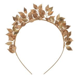 TUANMING Blatt Blume Ring Hoop Krone Gold Silber Stirnband Braut Kopfschmuck Blume Headwear Hochzeit Hairwear Braut Haarschmuck S919