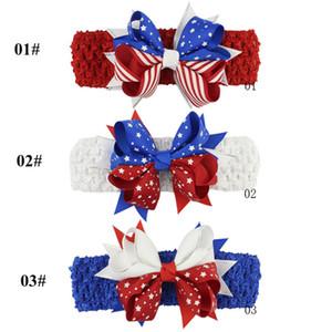 cabelo da cabeça grampo Acessórios American Baby crianças hairpin dia da independência bandeira arco dia nacional do bebê crianças 3pcs Fsshion Barrettes