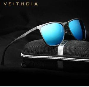 VEITHDIA Retro Aluminum Magnesium Men's Sunglasses Polarized Lens Vintage Eyewear Accessories Sun Glasses For Men 6623