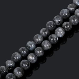 8mm neue Ankunft 4/6/8 / 10mm 38cm / Strang Mondsteinperle Edelstein schwarzer Mondstein runde lose Perlen für die Schmuckherstellung