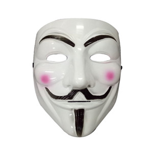 V Forma Máscaras Para Homens Acessórios Traje de Halloween Vendetta Partido Máscaras Masculino Clássico Máscara Cosplay Mens Branco Amarelo Máscara Acessórios