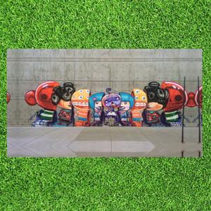 Graffiti Soyut Tuval Boyama Sokak Pop Art Boyama Karikatür Figürü HD Baskılar Duvar Resmi Oturma Odası için