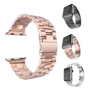 Pulseras de reloj de acero inoxidable para Iwatch Apple Men Watch Band Correa Mujer Pulsera Accesorios Sport 38mm 42mm Con adaptador 60pcs