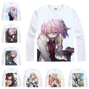 Coolprint мотивы хентай рубашка судьба Grand Order футболки мульти-стиль с длинным рукавом сабля Маш Kyrielight Аниме косплей рубашки