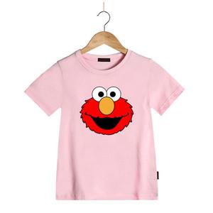 Estate dei bambini dei capretti magliette delle ragazze dei capretti del fumetto del Sesame Street Elmo cotone T T-shirt estiva maglietta del ragazzo breve maglietta del manicotto