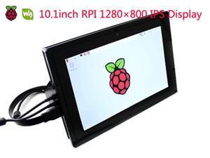 Freeshipping LCD da 10.1 pollici HDMI (B) (con custodia) 1280 * 800 IPS Touch Screen capacitivo per Raspberry Pi, Banana Pi, BB Nero Windows 10 / 8.1 / 8/7