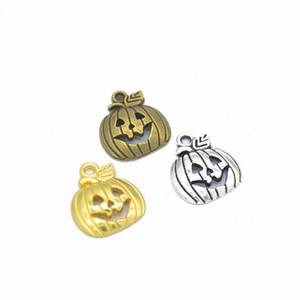 A granel 300 PCS Halloween Abóbora Encantos Pingente 18 * 16mm bom para artesanato DIY, fazendo jóias 4 cores