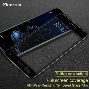 "Huawei P10 P20 Lite Cam Temperli Tam Kapak için Temperli Cam Huawei P10 Lite 5.2 ""Ekran Koruyucu için hawei p10 lite"