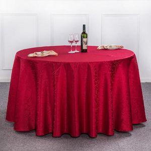 Tovaglia Tovaglia rotonda per banchetto Decorazione festa nuziale Tavoli Tessuto tovagliato in raso Abbigliamento Tovaglia matrimonio Tessili per la casa