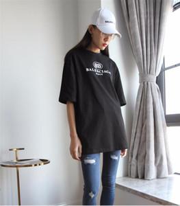 Mode t-shirts or VOGUE lettre femmes hommes coton à manches courtes T-shirt graphique cou décontracté femmes tops