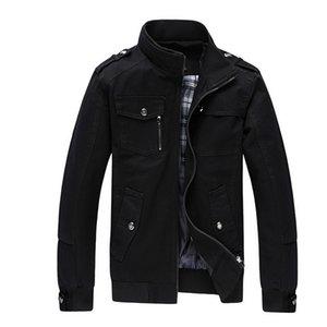 Herbst Winter Herren Baumwolljacken Stehkragen Military Mens Jacken Fashion Casual Oberbekleidung für Männer Plus Größe 3XL
