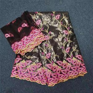 African Fabric Bazin Riche Stoff Tissu Africain Baumwolle bestickt Bazin Riche Getzner mit Tüll Lace Set afrikanische Spitze 30