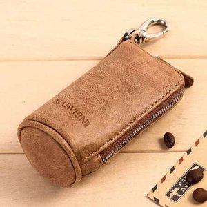 Новые женщины мужские ключи от машины кошельки воловья кожа молния кошелек сумка мода многофункциональный экономка держатели бесплатная доставка