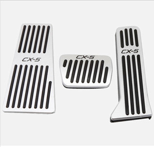 Las pastillas del pedal del freno del gas del acero inoxidable del coche cubren con el pedal del resto para CX-5 2015-2018 liberan el envío rápido