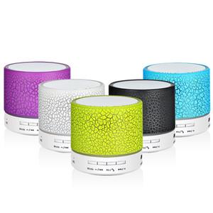 Altavoz inalámbrico Bluetooth, tarjeta de crackeador de siete colores, altavoz Bluetooth Mini USB portátil