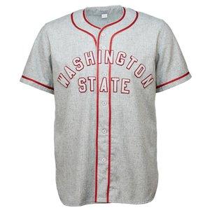 Washington State University 1948 Road Jersey 100% Stitched Embroidery Vintage Baseball Jerseys Custom Any Name Any Number
