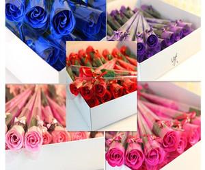 Yapay tek gül çiçek Noel hediyesi sabun tek Karanfil şenlikli hediye promosyon yıldönümü hediye açılış olay küçük ödül