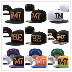 Sıcak Stil Kaliteli Toptan-Tam siyah takım para Snapback hiphop ayarlanabilir şapka erkekler kadınlar klasik beyzbol Şapkaları Ucuz