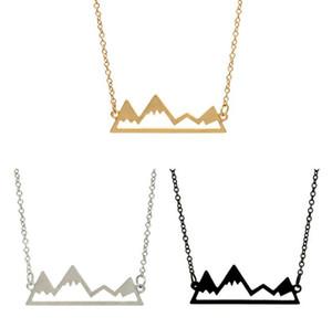 Valentine Colar Moda picos de montanha colares Geometric Paisagem caráter colares clavícula correntes de prata banhado colares DHL
