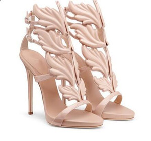 Summer Ankle Buckle Strap Women Pumps Gold Silver Leaves Tacchi alti Scarpe stile Roma Cut-Outs Thin Heels Women Shoes