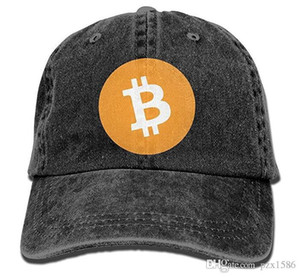 pzx @ Бейсболка для мужчин, женщин, Биткойн с логотипом Женская хлопковая регулируемая джинсовая шапка с несколькими цветами