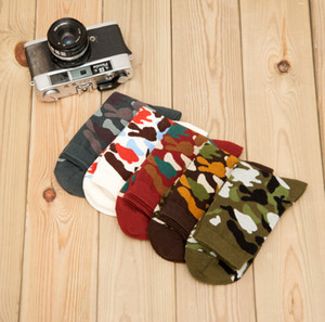 Calcetines de camuflaje masculino Calcetines de hip hop para hombre New Cotton Skateboard
