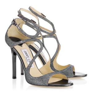 estate abito da sposa partito LANG sexy donne pompe cinturino alla caviglia perfetto Ladies Stiletto tacchi alti di design di lusso sandali gladiatore