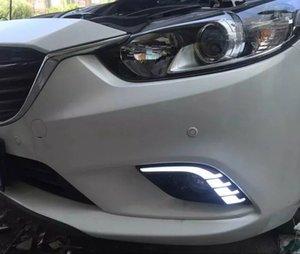 터닝 신호 디밍 스타일 릴레이 12 볼트 LED 자동차 DRL 낮 실행 조명 안개 램프 구멍 마즈다 6 Atenza 2013 2014 2015