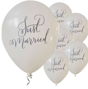 Kuchang 10 unids Mr Mrs Just Married Latex Balloon wedding wedding decoration Bachelorette Party ducha nupcial globos suministros