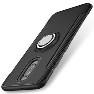 Для HUAWEI mate 9 pro Case, защитный чехол для телефона с подставкой Kick С магнитным автомобильным креплением с вращающимся кольцом для захвата